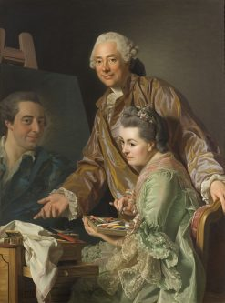 Double Portrait of Roslin and His Wife | Alexander Roslin | Oil Painting
