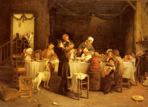 La Table Des Enfants | Charles-Bertrand dEntraygues | Oil Painting