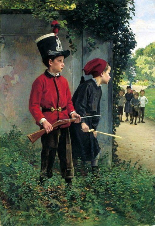 The Ambush | Charles-Bertrand dEntraygues | Oil Painting