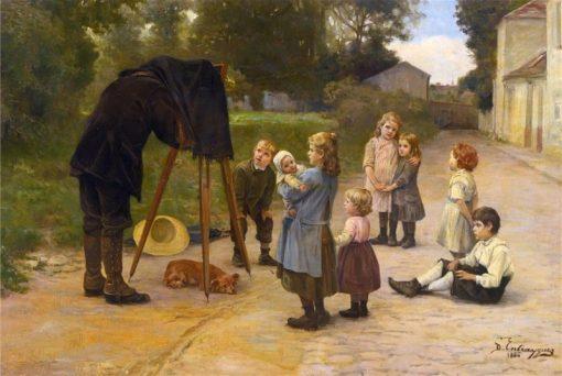 Watch The Birdie | Charles-Bertrand dEntraygues | Oil Painting