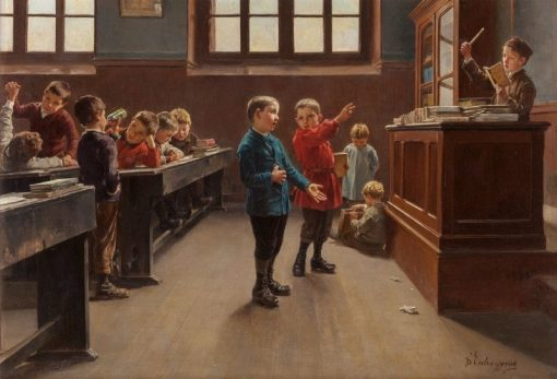 Concert in the Classroom | Charles-Bertrand dEntraygues | Oil Painting