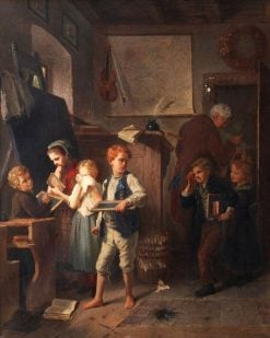 Trouble in the Classroom | August Heyn | Oil Painting
