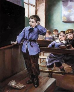 A difficult exercise | Henri Jules Jean Geoffroy | Oil Painting