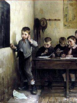 Embarassed Schoolboy | Henri Jules Jean Geoffroy | Oil Painting