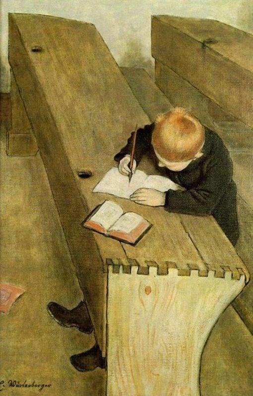 At School | Ernst Wurtenberger | Oil Painting