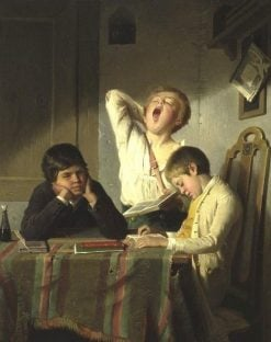 Bored with Lessons | August Heyn | Oil Painting