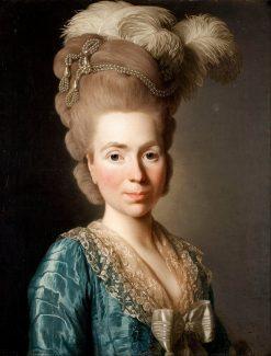 Portrait of Princess Natalia Petrovna Golitsyn | Alexander Roslin | Oil Painting
