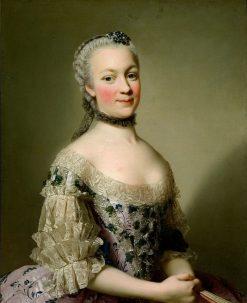 Portrait of Katarzyna Mniszech nee Zamoyska | Alexander Roslin | Oil Painting