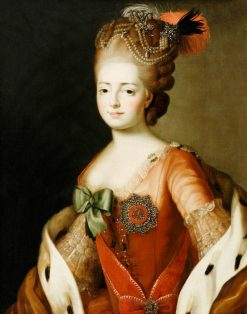 Portrait of Empress Maria Feodorovna (Sophie Dorothea of Wurttemberg) | Alexander Roslin | Oil Painting