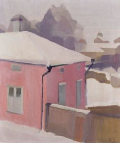 A View of a Yard in Tammisaari | Helene Schjerfbeck | Oil Painting