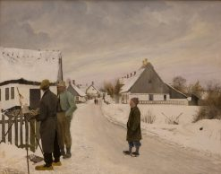 The Painter in the Village | Lauritz Andersen | Oil Painting