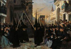 A Confraternity in Procession along Calle Genova