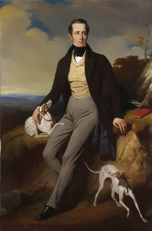Alphonse de Lamartine | Henri Decaisne | Oil Painting