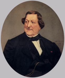 Portrait of Gioacchino Rossini | Vito DAncona | Oil Painting