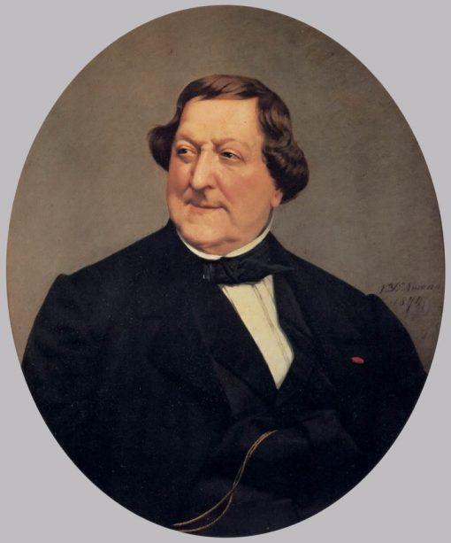 Portrait of Gioacchino Rossini | Vito DAncona | Oil Painting