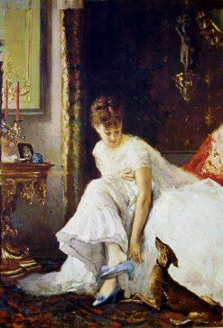 Lady in White   Vito DAncona   Oil Painting