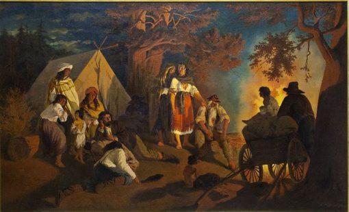 Gypsy Camp   Alexander Damberg   Oil Painting