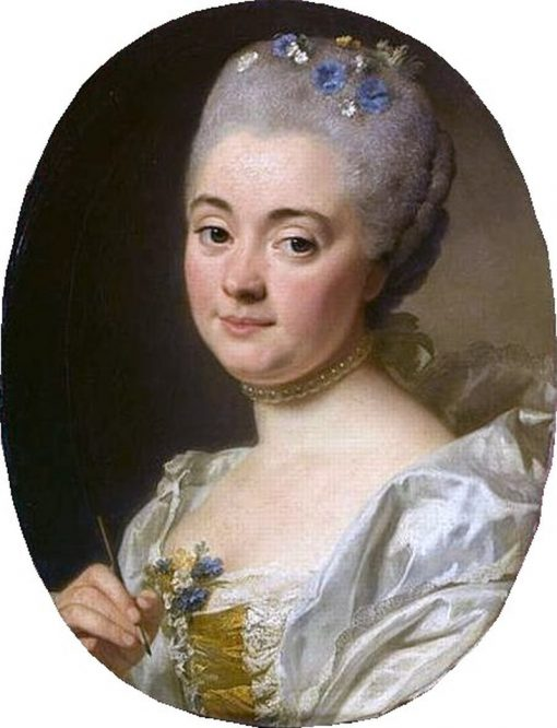 Portrait of the Artist Marie Therèse Reboul | Alexander Roslin | Oil Painting