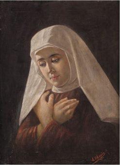 Portrait of a Nun | Angelo DAgata | Oil Painting