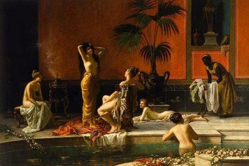 Pompeian Bath   Nicolo Cecconi   Oil Painting