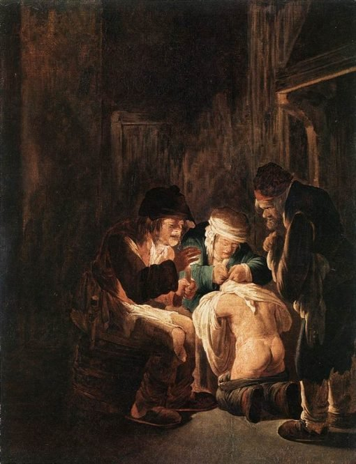 Flea Hunting by Candlelight | Andries Both | Oil Painting