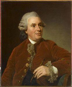 Portrait of Charles-Nicolas Cochin | Alexander Roslin | Oil Painting