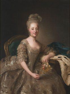 Portrait of Hedwig Elizabeth Charlotte of Holstein-Gottorp | Alexander Roslin | Oil Painting