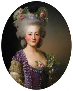 Portrait of Countess de Bavière-Grosberg | Alexander Roslin | Oil Painting