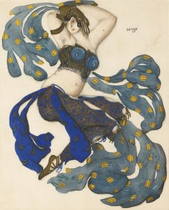 Costume design for an odalisque in Sheherazade | Leon Bakst | Oil Painting