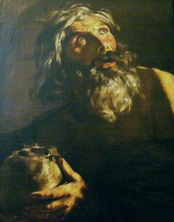 St. Jerome   Luciano Borzone   Oil Painting