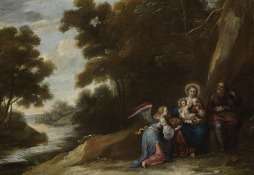 The Flight into Egypt | Luciano Borzone | Oil Painting