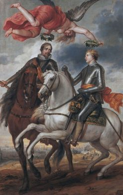Frederik Hendrik and Maurits as Generals; the Battle of Flanders in the Distance | the Battle of Flanders in the Distance | Oil Painting