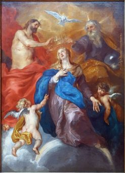 The Crowning of the Virgin | Thomas Willeboirts Bosschaert | Oil Painting