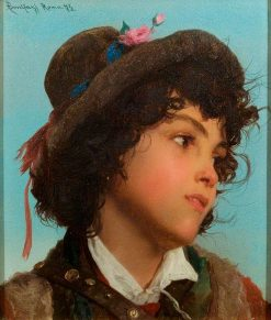 Head of an Italian Boy | Adriano Bonifazi | Oil Painting