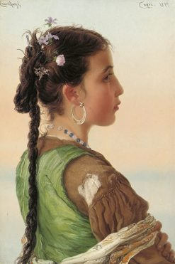 A Capri Girl | Adriano Bonifazi | Oil Painting