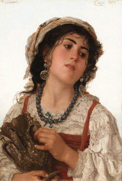 Italian Peasant Girl | Adriano Bonifazi | Oil Painting
