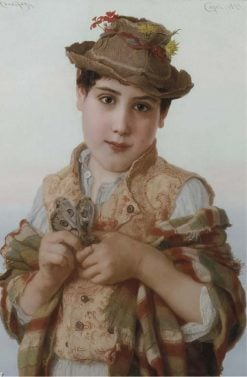 Boy with a Butterfly | Adriano Bonifazi | Oil Painting