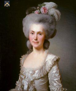 Portrait of Marie Jeanne Jeanne Puissant | Alexander Roslin | Oil Painting
