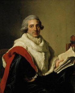 Portrait of Jean Baptiste Eugene Du Mangin | Alexander Roslin | Oil Painting