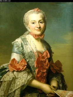 Portrait of Mme Charlotte Suzanne d´Holbach | Alexander Roslin | Oil Painting