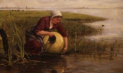The Milkmaid of Maas | James Clarke Hook