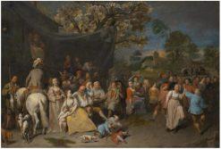 Farmers entertaining themselves   David Ryckaert III   Oil Painting