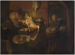 Old woman in the pantry   David Ryckaert III   Oil Painting