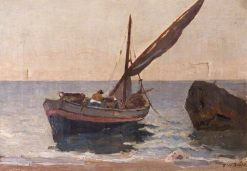 Boats on the Shore | Frederick William Jackson | Oil Painting