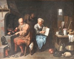 The Alchemist in His Laboratory | David Ryckaert III | Oil Painting
