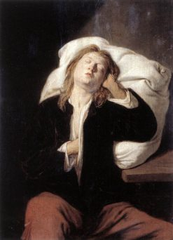 Man Sleeping | David Ryckaert III | Oil Painting