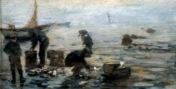 Coast Scene with Fishermen | Frederick William Jackson | Oil Painting