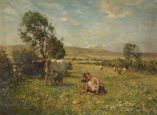 Cattle in a Meadow   Frederick William Jackson   Oil Painting