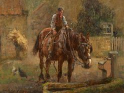 Drinking Trough | Frederick William Jackson | Oil Painting
