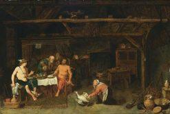 Philemon and Baucis Giving Hospitality to Jupiter and Mercury   David Ryckaert III   Oil Painting